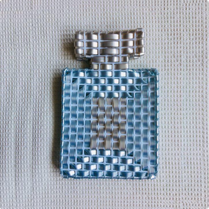 仮置きマスクケース(ブルー×パールホワイト)