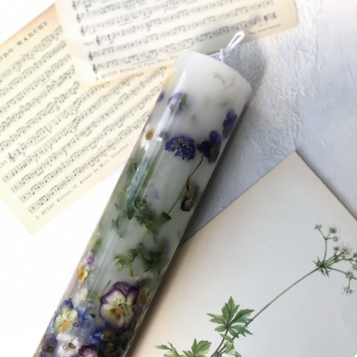 画像1: Botanical candle 〜très long〜 (1)