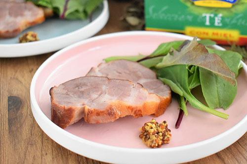 塩豚のはちみつ紅茶スモーク