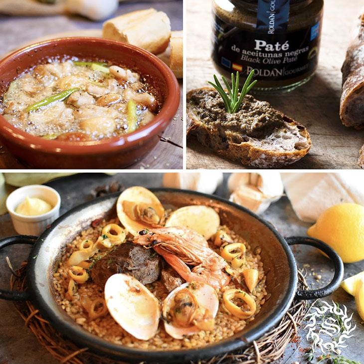 豪華食材の築地パエリア+アヒージョの「おうちで楽しむスペイン」セット